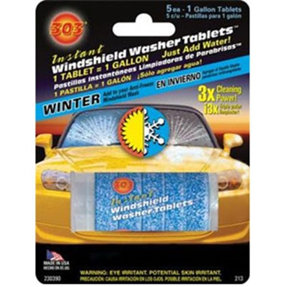 Picture of 303 Products Windshield Washer Tablets (R) Instant Windshield Wash Tablets, 5/Cd 230390 13-0471