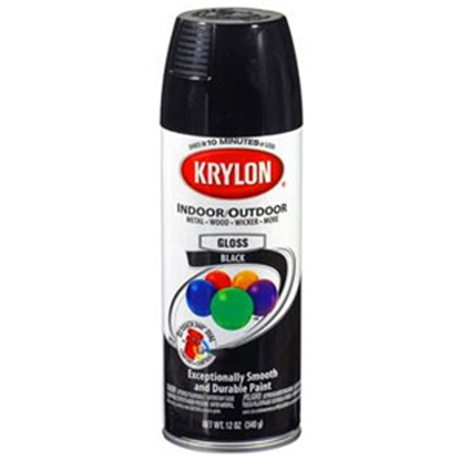 Picture of Krylon Krylon 12 Oz Spray Can Gloss Black Paint 51601 13-0556