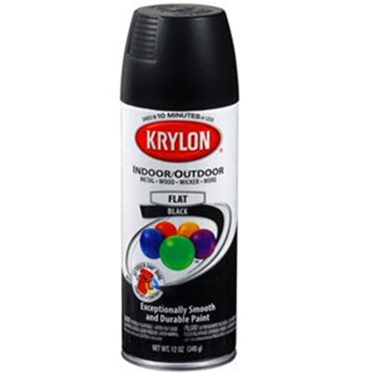 Picture of Krylon Krylon 12 Oz Spray Can Ultra-Flat Black Paint 51602 13-0557