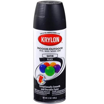 Picture of Krylon Krylon 12 Oz Spray Can Semi-Flat Black Paint 51613 13-0560