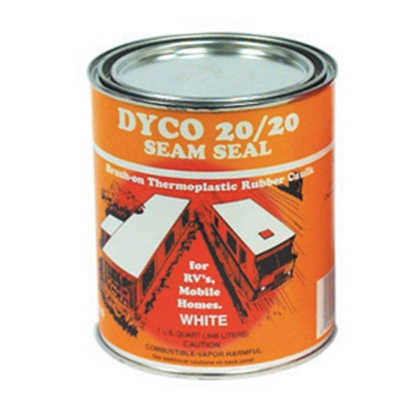 Picture of Dyco Paints  White 1 Gallon Can Synthetic Rubber Caulk 2020-SS 13-0647