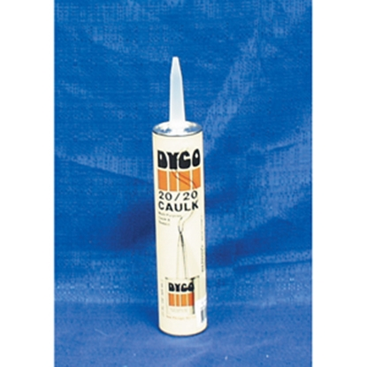 Picture of Dyco Paints  White 11 oz Tube Acrylic Elastomeric Caulk 2020-T-WH 13-0648