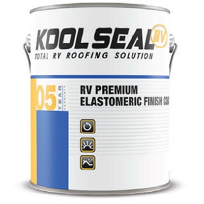 Picture of Kool Seal  White 1 Gallon RV Premium Elastomeric Finish Coat - 5 Year Roof Coating US KSRV08600-16 13-0697