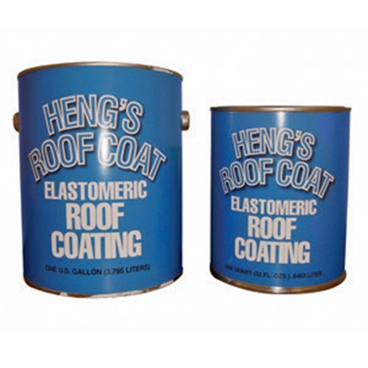 Picture of Heng's  32 oz White Elastomeric Roof Coating 47032 13-0740