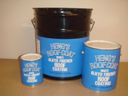 Picture of Heng's  5 Gallon Aluminum Alkyd Fibererd Roof Coating 43640 13-0753
