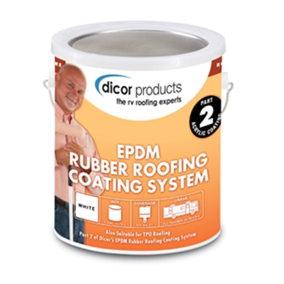 Picture of Dicor  1 Gallon White Acrylic EPDM Rubber Roof Coating RP-CRC-1 13-1286