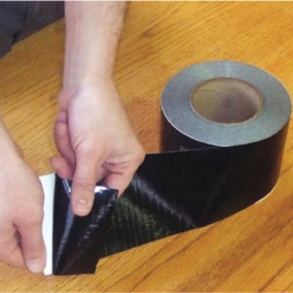 "Picture of AP Products  Black 4"" W x 180' L Multi Purpose Tape 022-BP4180 13-1610"