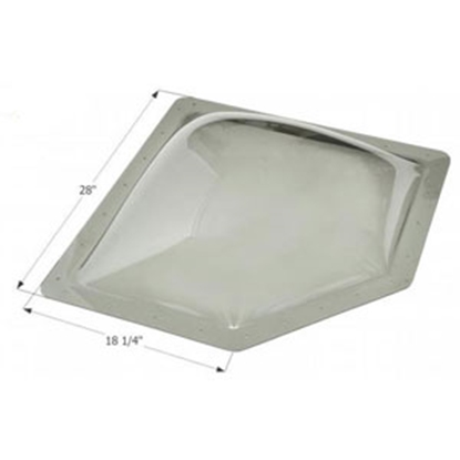 """Picture of Icon  White 14-1/4""""x24"""" RO 18-1/4""""x28"""" Flange Neo Angle Skylight 12179 13-1746"""