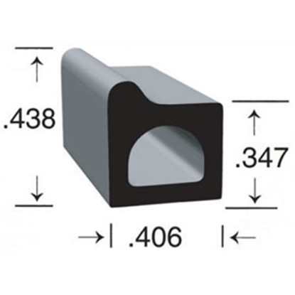 "Picture of Clean Seal  Black EPDM 0.406""Wx0.438""Hx50'L Rectangular Seal 106H2-50 13-1749"