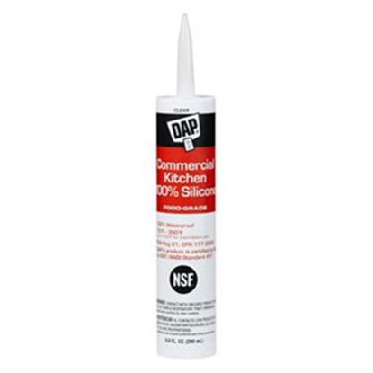 Picture of DAP  Clear 9.8 oz Tube Silicone Caulk 70798 08658 13-5799