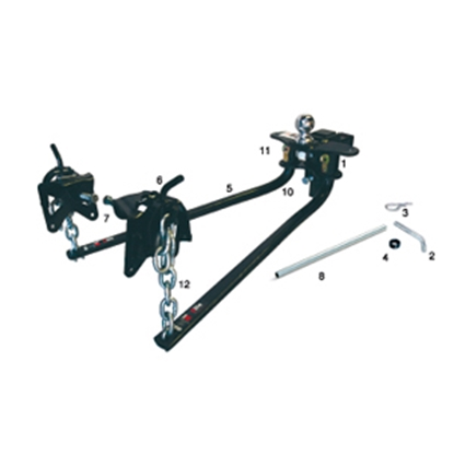 "Picture of EAZ-Lift  600 Lb Round Bar Weight Distribution Hitch w/Shank & 2-5/16"" Ball 48056 14-0498"