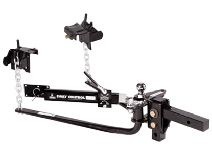 "Picture of Husky Towing  800 Lb Round Bar Weight Distribution Hitch w/10"" Shank & 2-5/16"" Ball 31997 14-1081"
