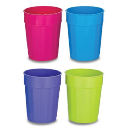 Picture of B&R Plastics  4-Pack Assorted Colors 22 oz Drinking Cups FC22-4-24 14-1295