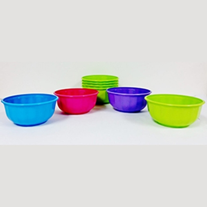Picture of B&R Plastics  4-Pack 28 oz. Assorted Color Bowls FB28-4-36 14-1296