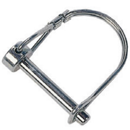 "Picture of JR Products  1/4"" x 1-3/8"" Steel Safety Lock Pin 01091 14-1541"