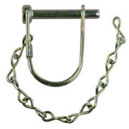 "Picture of JR Products  1/4"" x 1-3/8"" Steel Safety Lock Pin w/Pin Saver 01171 14-1542"