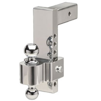 """Picture of Fastway E-Series HD 8""""/0"""" drop/rise Adjustable Aluminum Ball Mount 42-00-2825 14-1636"""