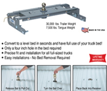 "Picture of B&W Hitches Turnoverball Trailer Hitch Ball 20K w/1"" Rise Gooseneck Trailer Hitch Ball GNXA2050 14-2949"