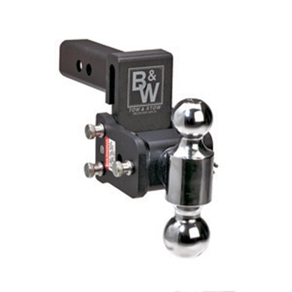 """Picture of B&W Hitches Tow & Stow Model 10 Class IV 2"""" 10K 7"""" Drop x 7-1/2"""" Lift Double Ball Mount TS10040B 14-3342"""