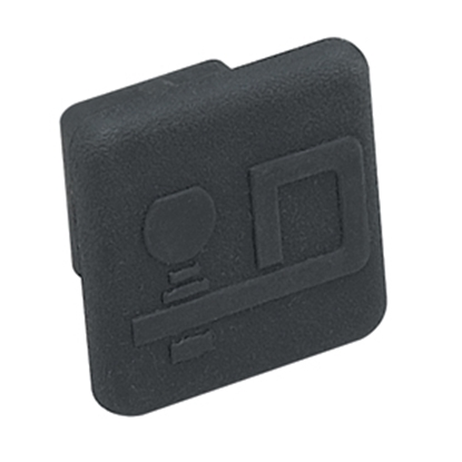 "Picture of Draw-Tite  1-1/4"" Black Draw-Tite Rubber Hitch Cover 2211 14-7326"