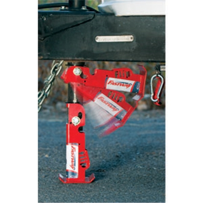 "Picture of Fastway Flip (TM) Steel 4-1/2"" x 6"" Ext Trailer Jack Foot Trailer Jack Foot for 2-1/4"" Tube 88-00-6500 15-0192"