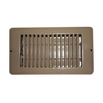 "Picture of AP Products  White 4""W x 12""L Floor Heating/ Cooling Register w/Damper 013-629 15-0447"