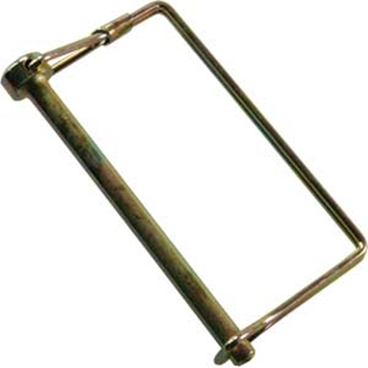 "Picture of JR Products  1/4"" x 3"" Steel Safety Lock Pin 01284 15-0748"