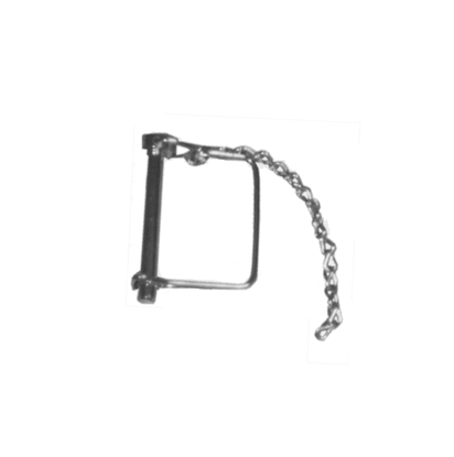 "Picture of JR Products  1/4"" x 1-3/8"" Steel Safety Lock Pin w/Pin Saver 01174 15-0760"