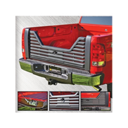 Picture of Stromberg Carlson 4000 Series Lockable Glass Filled Composite V-Shaped Louvered Vented Tailgate for 1997-2004/1999-2011 Ford.