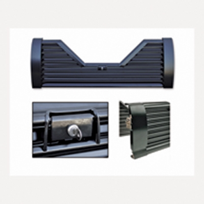 Picture of Custom Flow Tailgates Elite(TM) Lockable Steel V-Shaped Louvered Flo Thru Tailgate for 1988-1998 Chevy/GMC V-EL10 15-1149