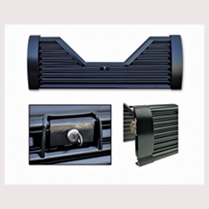 Picture of Custom Flow Tailgates Elite(TM) Lockable Steel Straight Louvered Flo Thru Tailgate for 1996-2002 Dodge R-EL36 15-1155