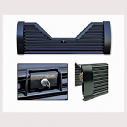Picture of Custom Flow Tailgates Elite(TM) Lockable Steel Straight Louvered Flo Thru Tailgate for 2004-2007 Ford F150 R-EL27 15-1157