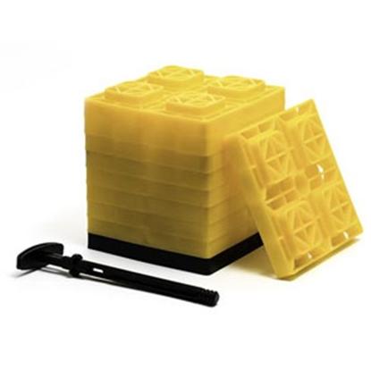 """Picture of Camco FasTen 10-Pk 2""""x2"""" Plastic Interlocking Levelling Blocks 44512 15-1442"""