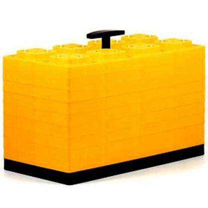 """Picture of Camco FasTen 10-Pk 4""""x2"""" Plastic Interlocking Levelling Blocks 44515 15-1444"""