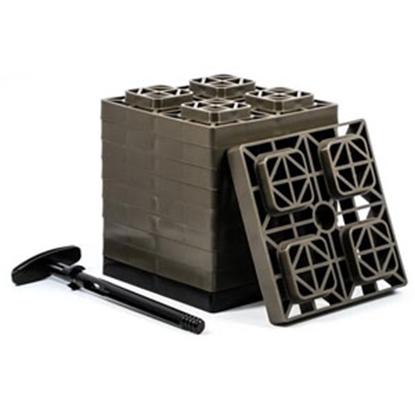"""Picture of Camco FasTen 10-Pk 2""""x2"""" Plastic Interlocking Levelling Blocks 44521 15-1446"""
