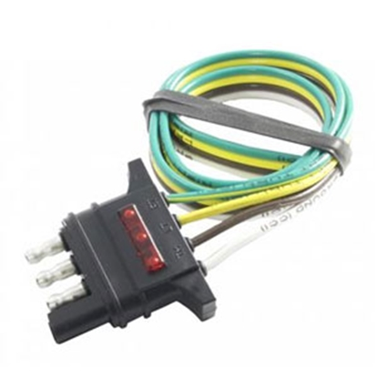 Picture of Hopkins Trailer Wiring Circuit Tester 4-Wire Flat Trailer End Trailer Connector 48133 15-3503