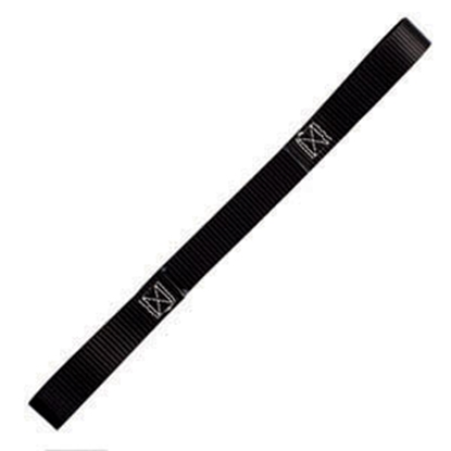 "Picture of Pacific Cargo  1"" x 18"" Black Tie Down Strap SMC1518-SL-WP 16-0670"