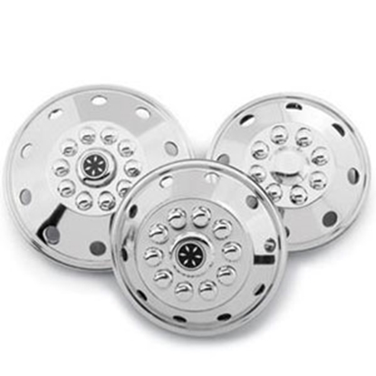 """Picture of Dicor Standard Series Single 19-1/2"""" Polished Stainless Steel Wheel Cover SHAG95-COV 17-0018"""