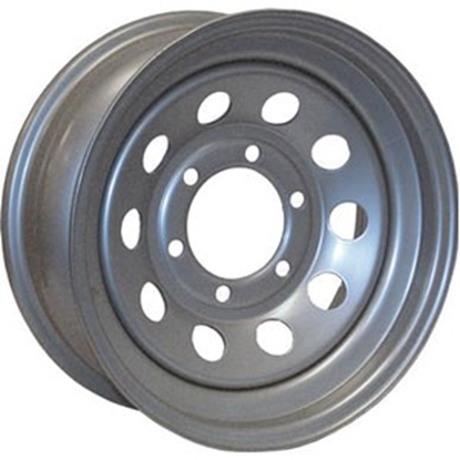 "Picture of Americana  15"" x 6"" 6-Lug Morton Silver Trailer Wheel 20539 17-0043"