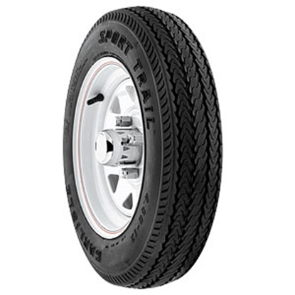 Picture of Americana Loadstar K371 Wheel/Tire, Loadstar K371, ST480-8 B, 5H-4.5, White 30020 17-0250