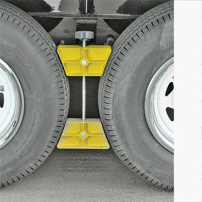 Picture of Camco  Single Yellow Hard Plastic Wheel Chock 44622 17-0271