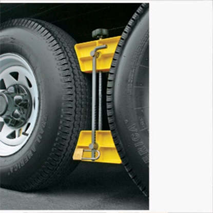 Picture of Camco  Single Yellow Hard Plastic Wheel Chock 44642 17-0272