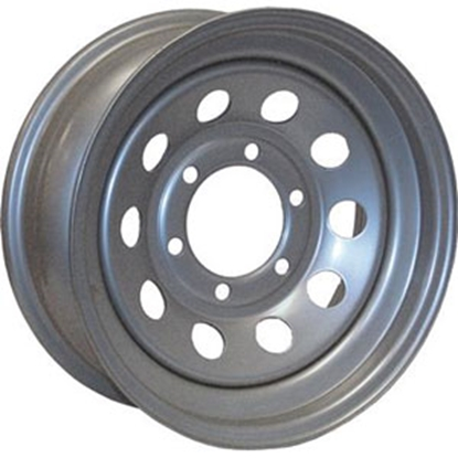 "Picture of Americana  15"" x 5"" 5-Lug Silver Trailer Wheel 20436 17-0326"