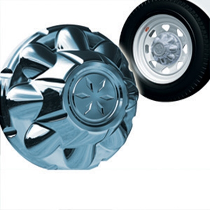 "Picture of Dicor VersaLok Chrome 8 Lug 6-1/2"" Versa-Lok ABS Hub Cover TAC865-CB 17-1043"