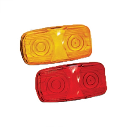 "Picture of Bargman  Amber 4""x2""x1-1/8"" Side Marker Light 32-003440 18-0029"