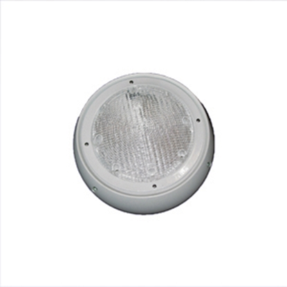 Picture of Command  White w/Clear Lens Round Porch Light 007-46W 18-0038