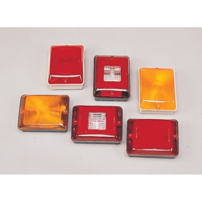 "Picture of Bargman 86 Series Red 5-13/16""x4-3/8""x2-7/8"" Trailer Light 34-86-103 18-0060"