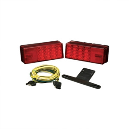 "Picture of Bargman  Red 8""x2-7/8""x2-3/4"" LED Tail Light 31-407540 18-0084"