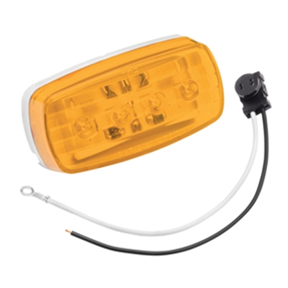 "Picture of Bargman 58 Series Amber 4""x2""x1"" LED Side Marker Light 47-58-032 18-0097"