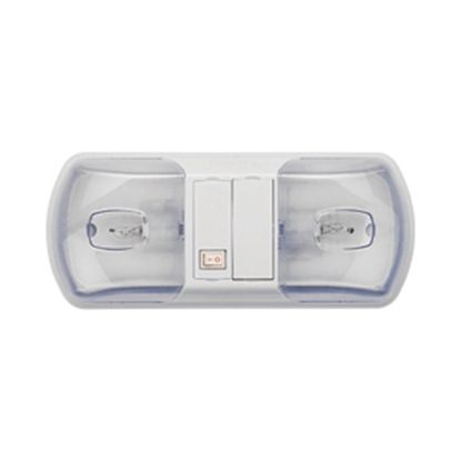 Picture of Starlights LITECO White w/Double Clear Lens Ceiling Mount Interior Light w/Switch 016-BL3001 18-0127